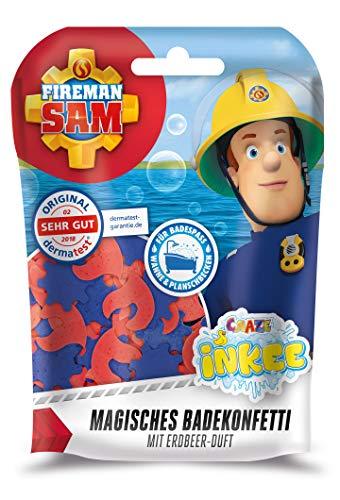 CRAZE Spaßbad Fireman INKEE Magisches Duft Badekonfetti Feuerwehrmann Sam Badespaß für Kinder 12499, bunt