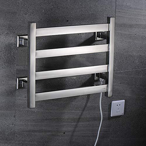 Wlylyhjy Toallero eléctrico de pared, toallero eléctrico, tendedero de ropa sencillo, sensación húmeda y fría de toallas, plugin