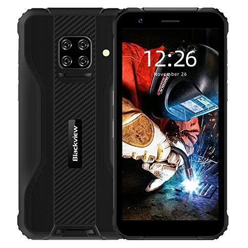 Móvil Resistente, IP69K Blackview BV5100 Android 10 con Pantalla 5.7'' HD+ IPS, 4GB+128GB MT6762 Octa-Core Móvil Libre Antigolpe, Dual 4G con Cámara Cuádruple 16MP+13MP, Batería 5580mAh NFC/GPS