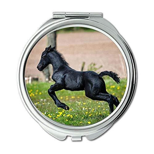 Yanteng Spiegel, kompakter Spiegel, Tierphotographie der Landwirtschaft Tier, Taschenspiegel, beweglicher Spiegel