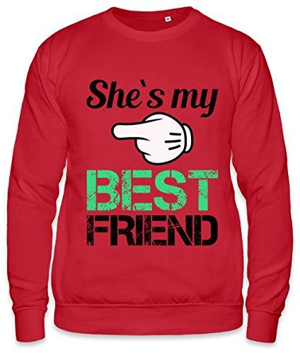 She's My Best Friend Slogan Unisex Sweatshirt XX-Large