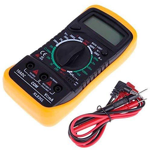 Multímetro de digital LCD AC DC Voltímetro Resistencia Corriente Ohm Probador Medidor-Fusible F-200mA   250V-Diodo Prueba de empalme Transistor P-N HFE. (Pequeña)