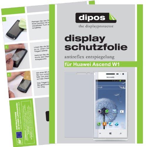 dipos I 2X Schutzfolie matt kompatibel mit Huawei Ascend W1 Folie Displayschutzfolie - 2