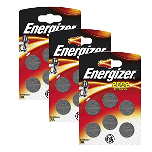 18 x Energizer CR2032 Coin Lithium 3V Battery Batteries for Watches Torches Keys