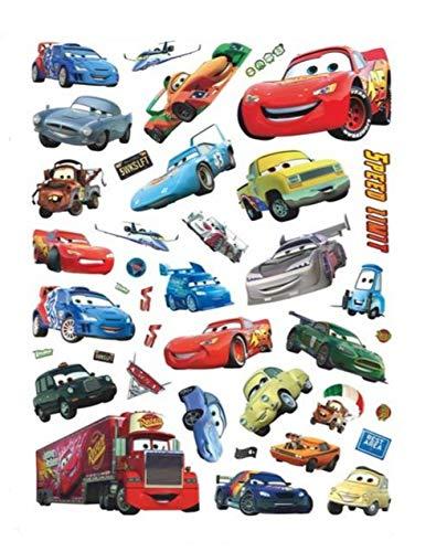 Kibi Pegatinas de Pared Cars Pegatinas Decorativas Pared Cars Disney Dormitorio Bebe Decoración Del Hogar Pegatinas De Pared Niño Adhesivos Pared Decorativos Cars 3 Extraíble XXL