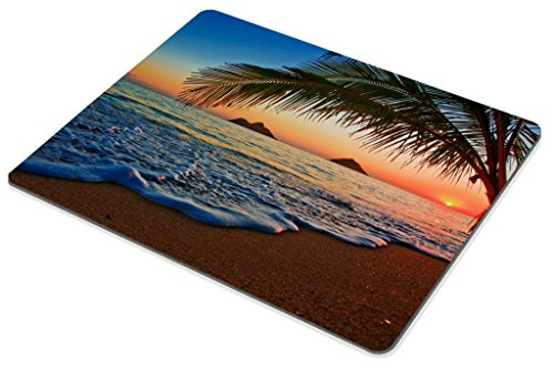 Hawaiian Mouse Pad by Smooffly, Pacific Sunrise at Lanikai Beach, Hawaii Colorful Sky Wavy Ocean Surface Scene,Customized Rectangle Non-Slip Rubber Mousepad Gaming Mouse Pad, 9.5 X 7.9 Inches Photo #6