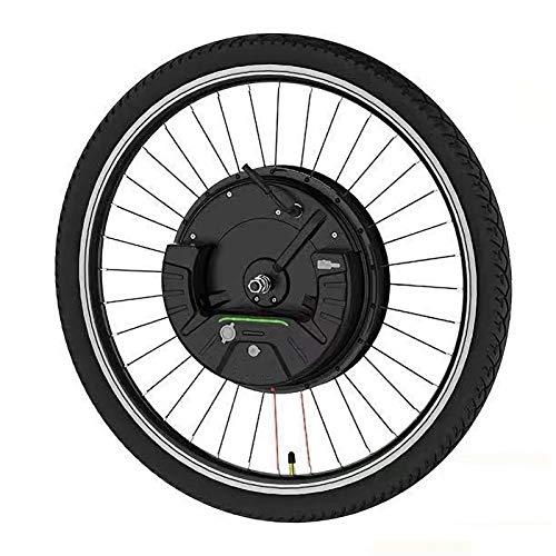 IMotor Wheel Kit De Conversión De Bicicleta Eléctrica E Bike Pantalla De Rueda Delantera Y App Motor Opción Kit De Conversión 24'' 26'' 27,5'' 700C 29'' (Color : Disc Wire Control, Size : 27.5 in)