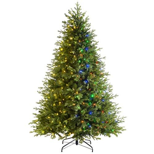 WeRChristmas Pre-lit Windsor Fir Function Christmas Tree with 300 Multi Dual LED Lights, Green, 5 feet/1.5m