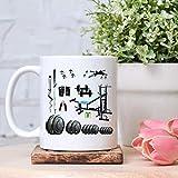 Fitness Equipment Mug,Pre Workout Mug,Crossfitter Fitness Torture Mug,Gymer Gift,Christmas Gift 11oz
