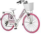 breluxx® 28 Zoll Damenfahrrad Venera Fashion Madeline Citybike mit Korb + Licht Retro Damenrad, 6...