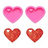 Nifocc - Molde de silicona con forma de corazón, diseño de corazón,...