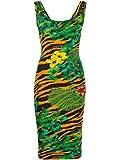 Versace Jeans Couture Vestido de punto multicolor 36