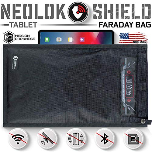 Mission Darkness NeoLok Faraday Bag with Magnetic Closure - Device Shielding for Law Enforcement, Military, Executive Privacy, EMP Protection, Travel & Data Security, Anti-Hacking/Tracking Assurance