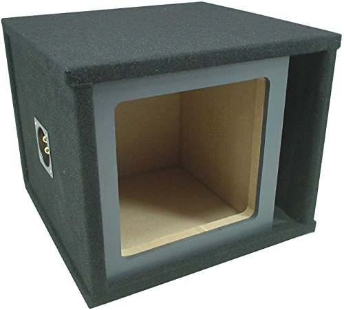 "Car Audio Single 15"" Vented Square Paintable Sub Box fits Kicker L7 Subwooofer"
