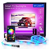 MY LAMP Retroilluminazione LED per TV APP,4.36m Striscia LED USB con Telecomando per 65-75 Pollici Luci LED TV Controllo APP RGB 5050 Sincronizzazione con la Musica