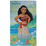 CTI - Disney - Drap de Plage Vaiana Aloha 100% Coton, Vert, 120x70 cm