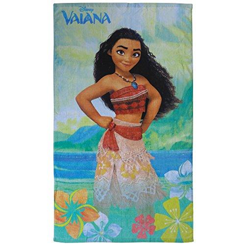 Disney Vaiana Aloha Badetuch, Baumwolle, türkis, 70 x 120 cm