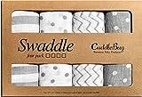 Mantas de Muselina Unisex CuddleBug - Paquete de 4 - Sabanas de Envolver,...