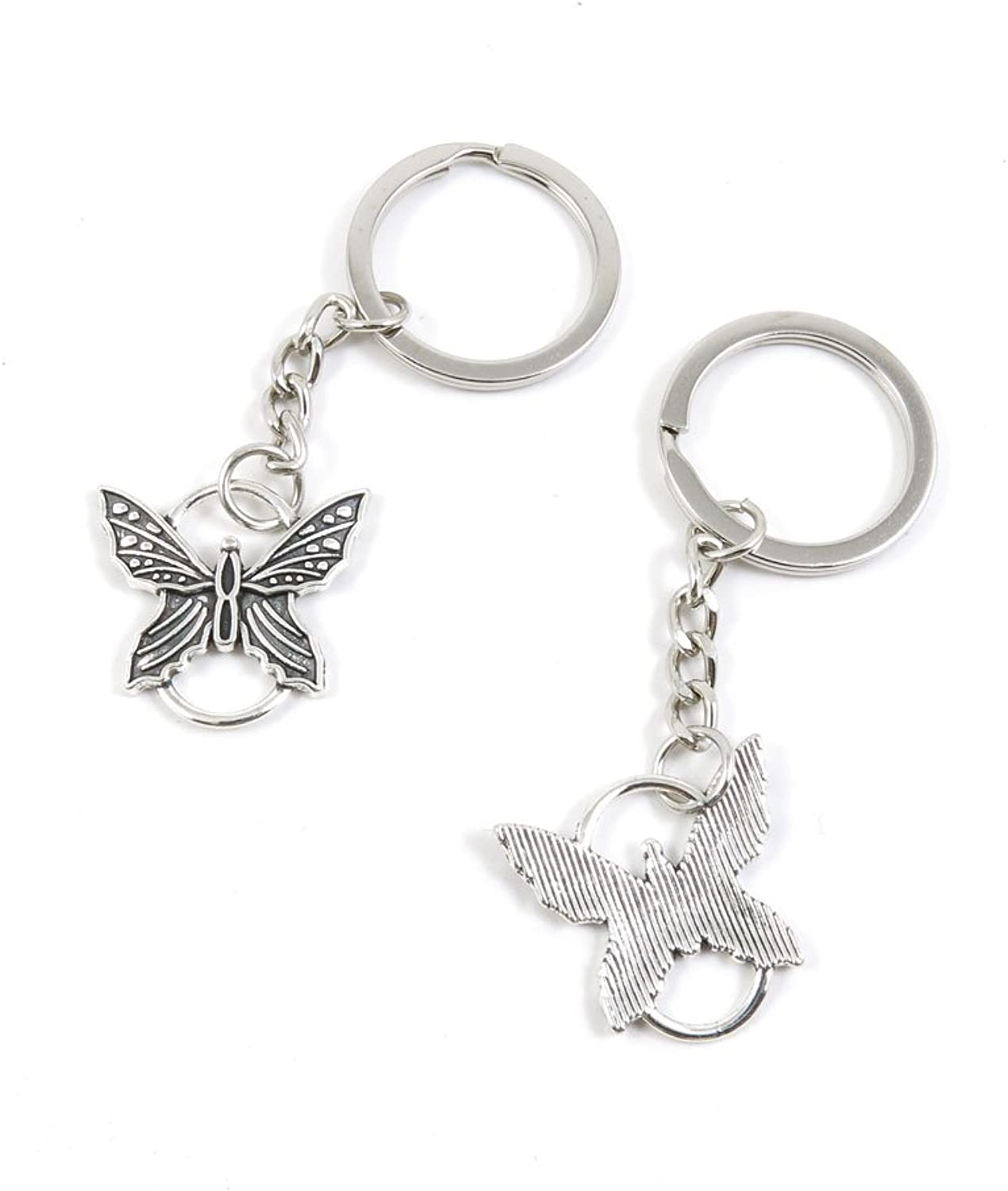 170 Pieces Fashion Jewelry Keyring Keychain Door Car Key Tag Ring Chain Supplier Supply Wholesale Bulk Lots X9FF6 Butterfly Connector
