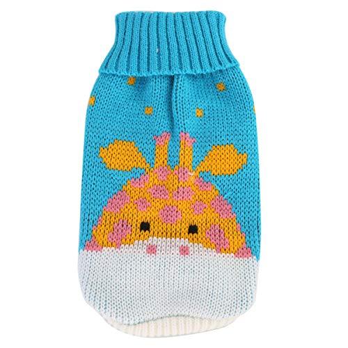 "Ponacat huisdier winter breien trui puppy kleding hert patroon breigoed voor hond kat (S), 12, æ¹–è""å°é¹¿"
