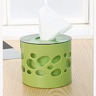 Dispensador de cajas de pañuelos Cilindro de tejido creativo Box, Hogar Servilleta redoble de tambor, son ideales for el hogar, la oficina y el uso de Automoción (14.5x12.3cm) -Conveniente para tu vid