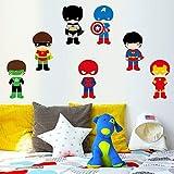 nkfrjz Super Hero Maske wandaufkleber abnehmbare Vinyl wandtattoo Kindergarten DIY tapete kinderzimmer Dekoration wandaufkleber kinderzimmer