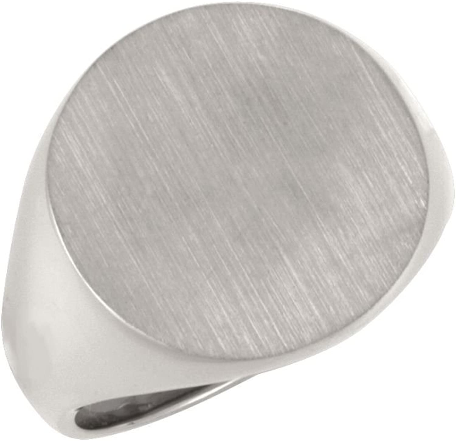 Beautiful Sterling silver 925 sterling Sterlingsilver Gents Solid Sig Rg W Brush Fin