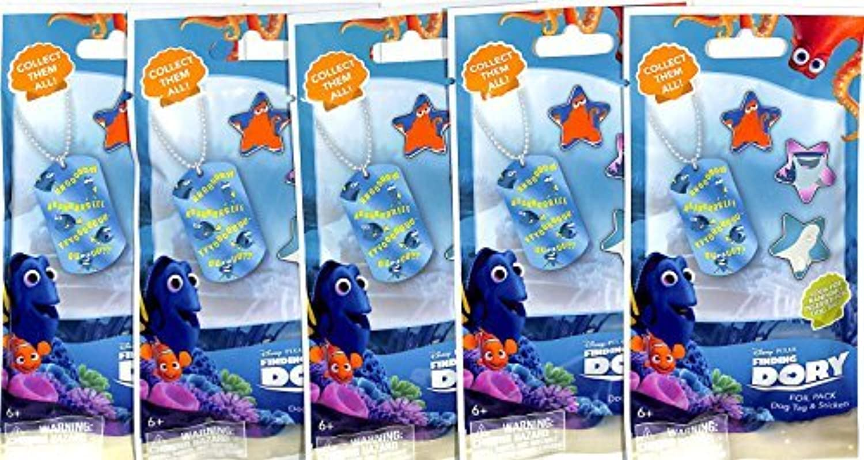 suministro de productos de calidad 2016 New Disney Pixar Finding Finding Finding Dory Collectible Dog Tags Lot of 5 Sealed Packs by Dory  Con 100% de calidad y servicio de% 100.
