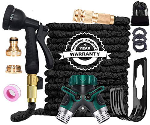 AILUZE Garden Hose Pipe -100Ft Flexible and Durable 4-Layers Latex Water...