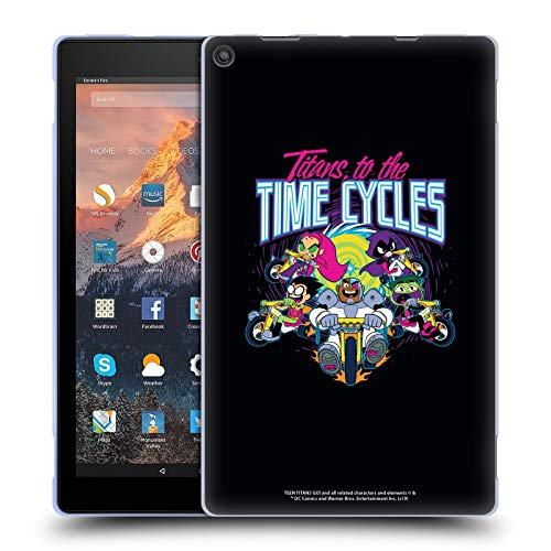 Official Teen Titans Go! To The Movies To The Time Cycles Graphic Designs Soft Gel Case Compatible for Amazon Fire HD 10 (2017)