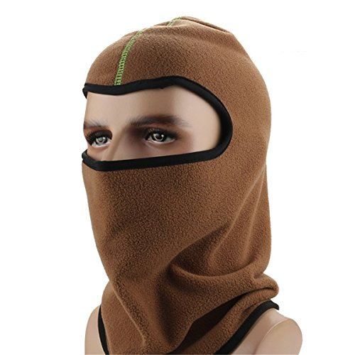 ECYC® Balaclava Hiver Sports De Plein Air Masque Complet Cache-Cou éPais, Brun