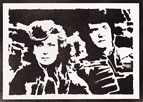 Dune Poster Jessica und Paul Atreides Plakat Handmade Graffiti Street Art - Artwork