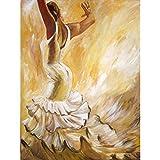 Pintura del Diamante 5D Bailarina DIY Taladro Completo Bordado Punto de Cruz de Imagen artesanía Etiqueta de la Pared decoración 30 * 40 cm