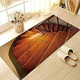 JY ART 3D Escalera de Caracol Se Puede Quitar No Adhesivo Pegatina Antideslizante Resistente al Desgaste Pegatina de Piso Sala Cocina Baño Decoración hogareña, 60 * 120cm