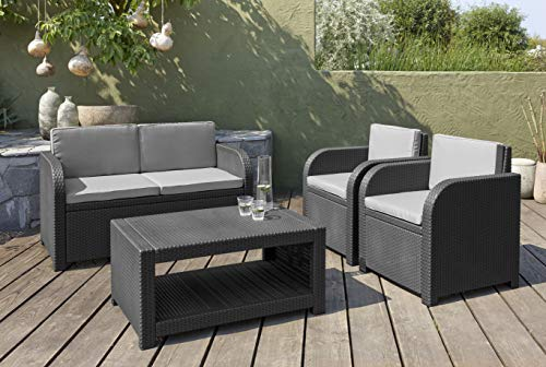 Allibert Modena Lounge Set, graphit/cool grey (poly cotton Kissen) - 3