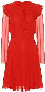 (ジャンバティスタ バリ) Giambattista Valli Ruffled silk-chiffon dress レディース ワンピース・ドレス ワンピース