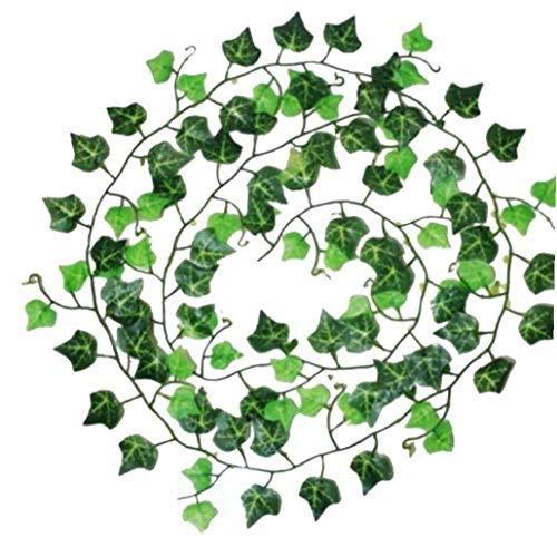 1pc 2m Artificial Hiedra Hoja Garland Plantas Decoración Vine Falso Follaje Verde De Flores Guirnalda De La Hoja