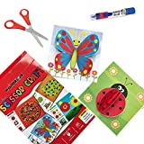 WONDRBOX Scissor Art and Craft Activity Book for Kids Age 3 and Up | Includes: 12 DIY Paper Crafts...