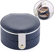 Outgeek Jewelry Box Portable Double Layer Jewelry Case with Mirror for Travel