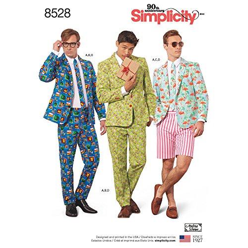 Simplicity 8528 Schnittmuster für Anzugskostüme, Größen 44-52