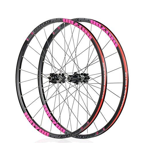 Mountain Bike Front Wheel Rear Wheel, 26'/27.5' Bicycle Wheelset Alloy Type Disc Brake MTB Rim Quick Release 24Loch Shimano Or Sram 8 9 10 11 Speed