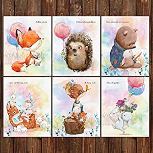Pillow and Toast Woodland Baby Nursery Wall Decor Newborn Wall Art Prints 8×10 inches