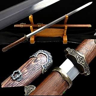 GLW Sword Handmade Chinese Sword Pattern Steel Sharp Blade Chinese Sword Tachi Tang Dao Chicken Wood Sheath Sharp Blade
