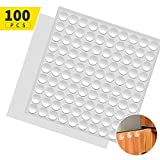 Fu Store Rubber Bumpers Clear Self Adhesive Bumpers Noise Dampening Buffer Pads 100PCS 3/8 Inch Protection for Cabinet Door Drawer Wooden Floor-Hemispherical