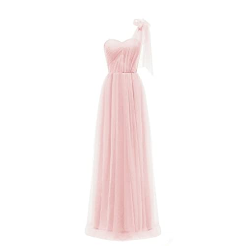 WDING Convertible Bridesmaid Dresses Long Tulle Wedding Party Dress for  Women a64c8758a969