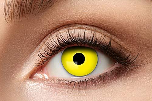 Eyecatcher 84063141-606 - Farbige Kontaktlinsen, 1 Paar, für 12 Monate, Gelb, Karneval, Fasching, Halloween