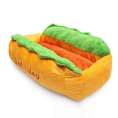 Hot Dog Shape Pet Bed, Kennel Cat Kennel Puppy House Warm Mat Pad Wasbaar Mat Warm En Zacht,M
