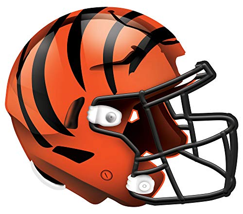 Fan Creations NFL Cincinnati Bengals Unisex Cincinnati Bengals Authentic Helmet, Team Color, 12 inch