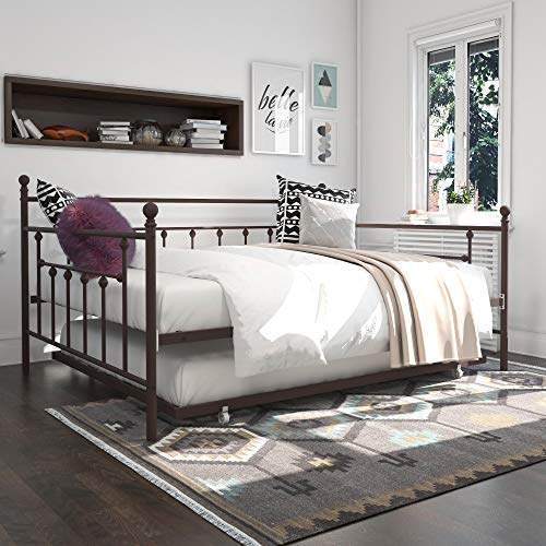 DHP Manila Metal Queen Size Daybed and Full Size Trundle (Bronze)