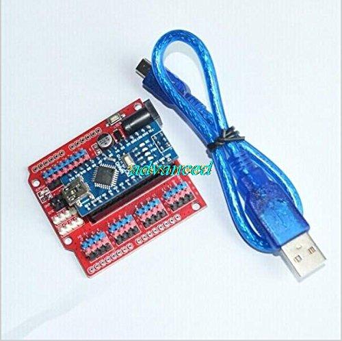 Adaptador de terminal para arduino nano V3.0 ATMEGA328P + 1pcs NANO Shield...